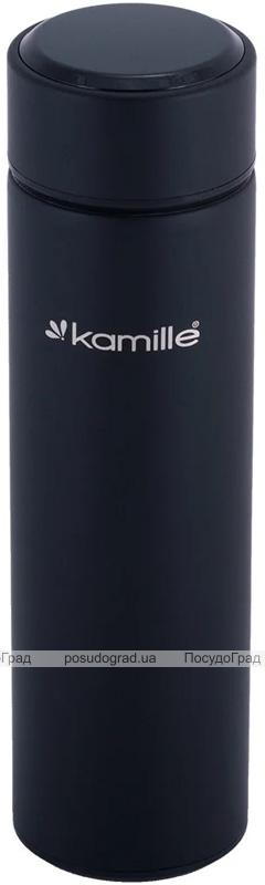 Термос Kamille Emerick 400мл с ситечком и датчиком температуры воды