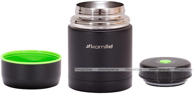 Термос пищевой Kamille Merikano 500мл из нержавеющей стали