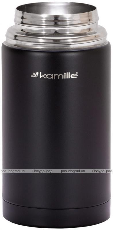 Термос пищевой Kamille Merikano 1000мл из нержавеющей стали