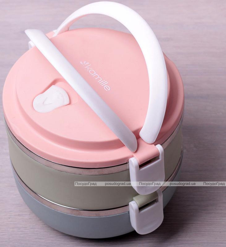 Ланч-бокс Kamille Food Box 2 емкости по 700мл, 16.5х15х13.5см