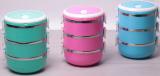 Ланч-бокс Kamille Food Box 3 ємності по 700 мл, 16.5х15х20см