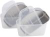 Ланч-бокс Kamille Snack 750мл, пластик и нержавеющая сталь, белый