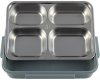 Ланч-бокс Kamille Snack 1000мл на 4 секції, пластик і нержавіюча сталь, синій