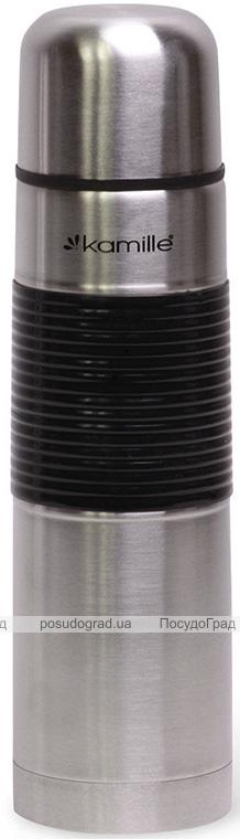 Термос Kamille Amiens 1000мл с силиконовой накладкой