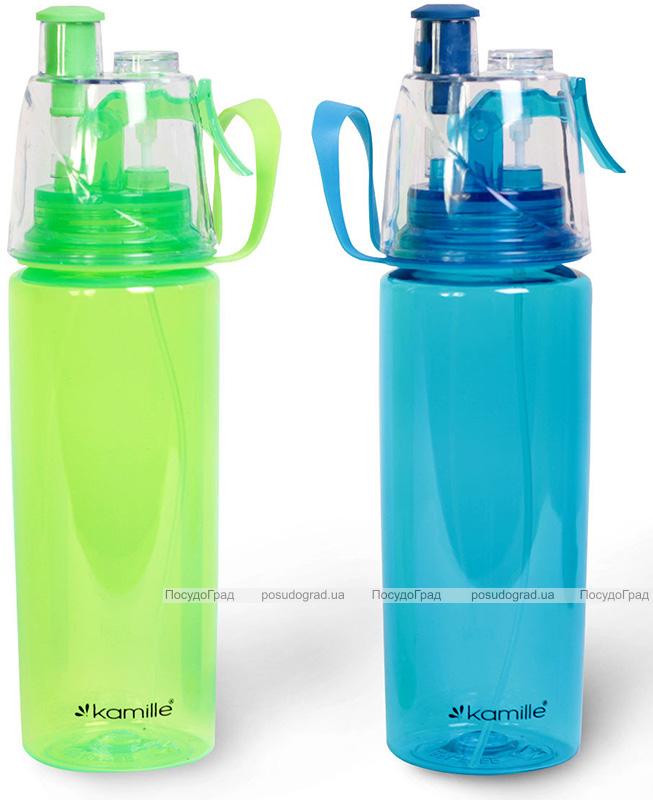 Спортивная бутылка Kamille для воды 570мл с распылителем