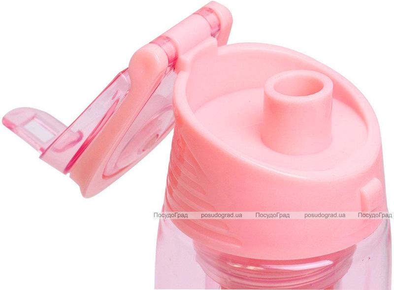 Бутылка для воды Kamille Fruit 660мл пластиковая с отсеком для фруктов