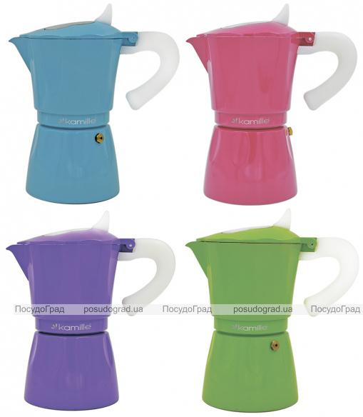 Гейзерная кофеварка Kamille Color на 6 чашек 300мл