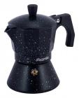 Кавоварка гейзерна Kamille Andel Black 150мл на 3 чашки