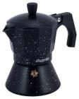 Кофеварка гейзерная Kamille Andel Black 300мл на 6 чашек