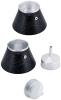 Кавоварка гейзерная Kamille Andel Black 450мл на 9 чашок
