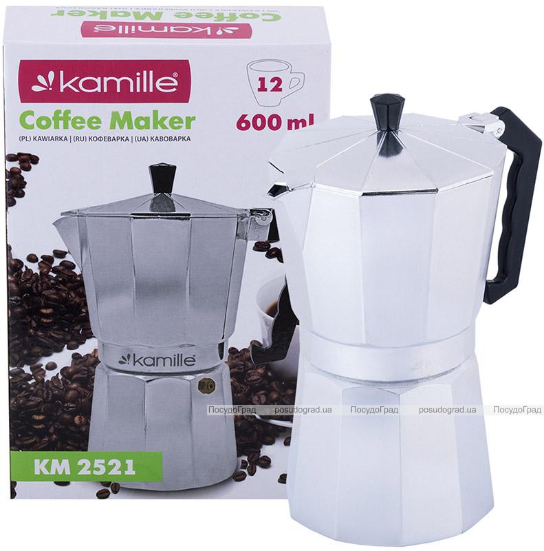 Гейзерная кофеварка Kamille 600мл на 12 порций