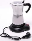 Кофеварка гейзерная Kamille Grey 300мл (6 порций), электрическая