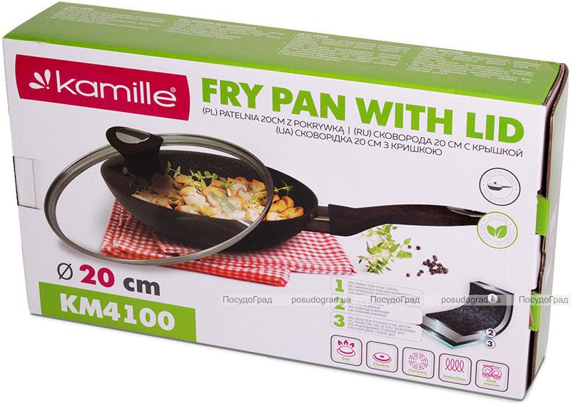 Сковорода Kamille Sillamae Ø20см со стеклянной крышкой