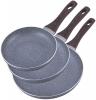 Набір сковорід Kamille Gregers Grey Ø20см, Ø24см, Ø28см з антипригарним покриттям ILAG
