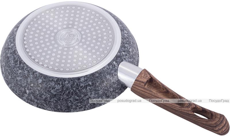 Сковорода Kamille Grey Marble Ø24см индукционная с антипригарным покрытием
