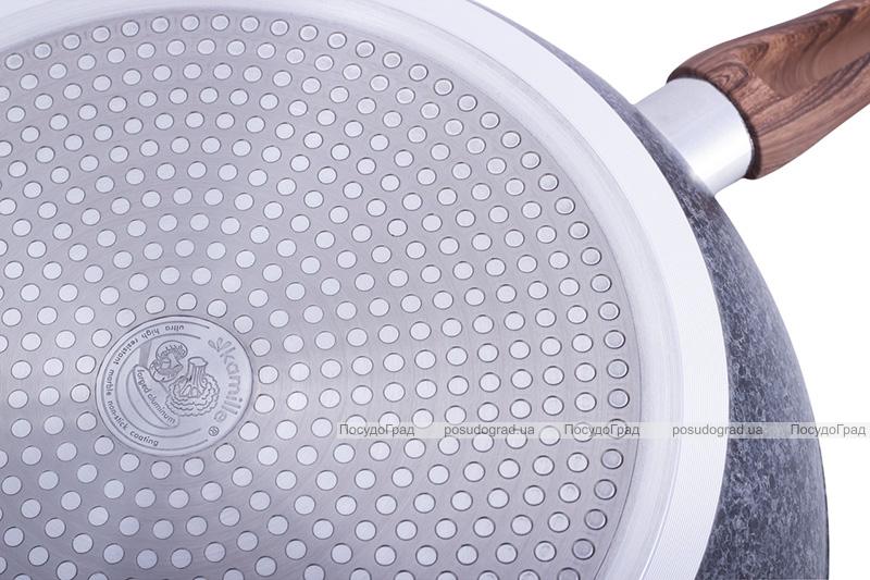 Сковорода-сотейник Kamille Grey Marble Ø26см индукционная с антипригарным покрытием