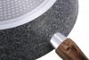 Сковорода-сотейник Kamille Grey Marble Ø28см індукційна з антипригарним покриттям