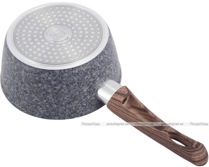 Ківш Kamille Grey Marble Ø16см індукційний з антипригарним покриттям