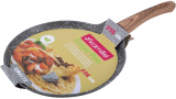 Сковорода для млинців Kamille Grey Marble Ø28см індукційна з антипригарним покриттям