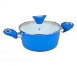 Кастрюля Kamille Vigo 2.5л с керамическим антипригарным покрытием, синяя