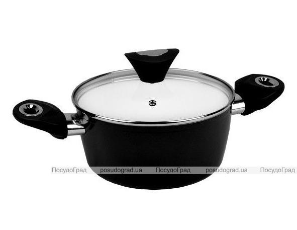 Кастрюля Kamille Vigo 2.5л с керамическим антипригарным покрытием, черная