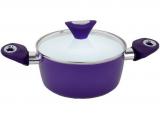 Кастрюля Kamille Vigo 4.0л с керамическим антипригарным покрытием, фиолетовая