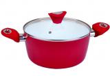 Кастрюля Kamille Vigo 4.0л с керамическим антипригарным покрытием, красная