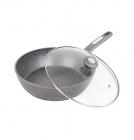 Сковорода-сотейник Kamille Granite Ø24см з кришкою