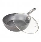 Сковорода-сотейник Kamille Granite Ø26см з кришкою