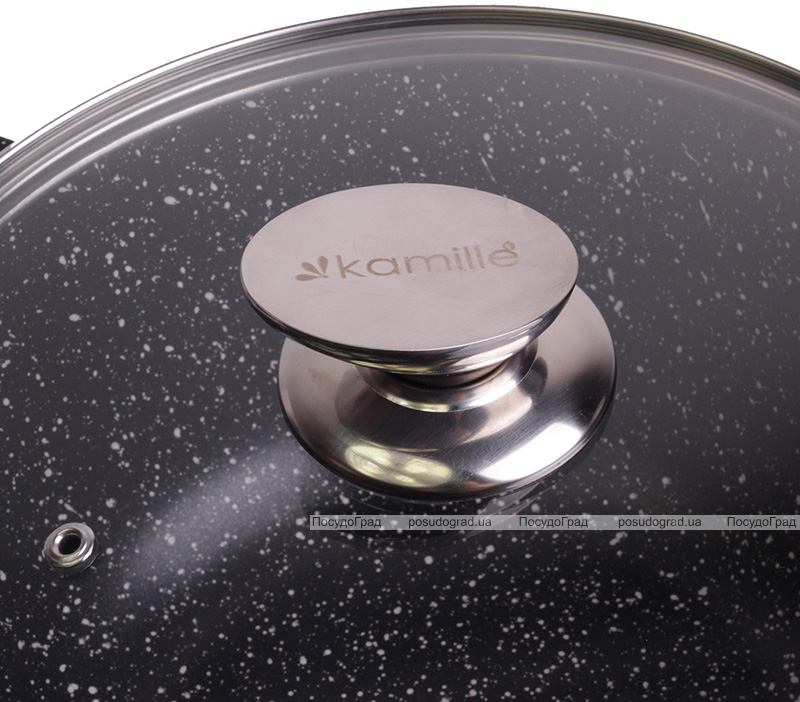 Кастрюля Kamille Landes 10л с литыми алюминиевыми ручками