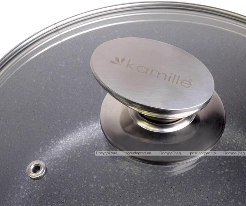 Каструля Kamille Landes Grey 2.3л з литими алюмінієвими ручками