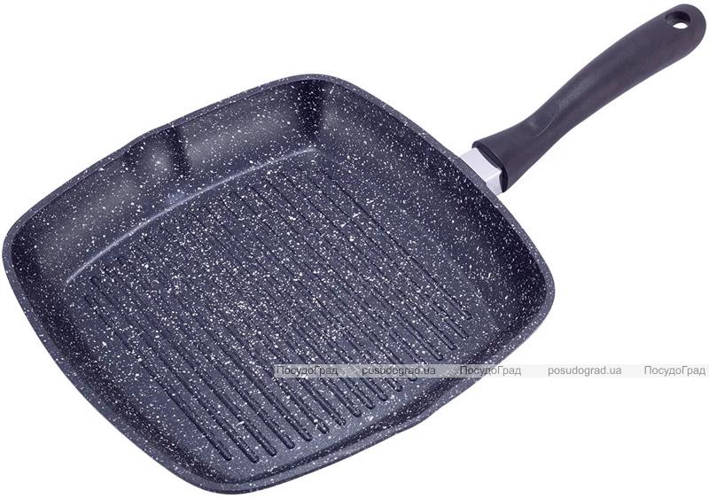 Сковорода-гриль Kamille Grill Pan 28х28см зі скляною кришкою
