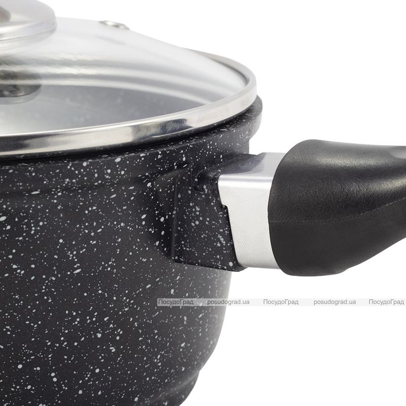Ковш Kamille Black Marble Ø16см индукционный, со стеклянной крышкой