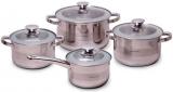 Набір кухонного посуду Kamille Springfield 8 предметів, нержавіюча сталь
