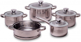 Набір кухонного посуду Kamille Springfield 9 предметів, нержавіюча сталь