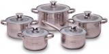 Набор кухонной посуды Kamille Springfield 10 предметов, нержавеющая сталь
