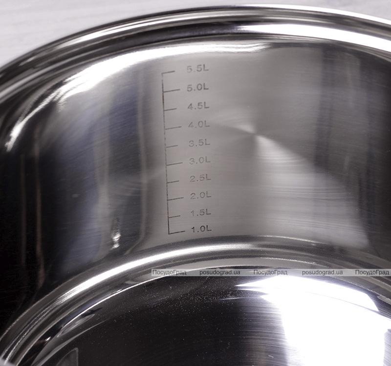 Каструля Kamille Springfield 6.5л з нержавіючої сталі, з пароваркою