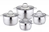 Набор посуды Kamille Mystery 3 кастрюли 2.9л, 3.9л, 6.5л и ковш 2.1л