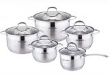 Набор посуды Kamille Mystery 4 кастрюли 2.1л, 2.9л, 3.9л, 6.5л и ковш 2.1л