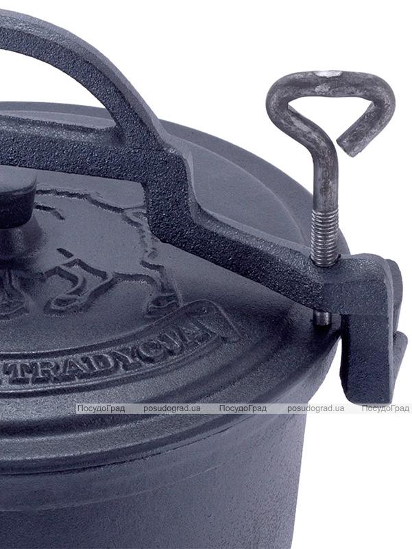 Казан чавунний Kamille Camping 10л емальований, на ніжках