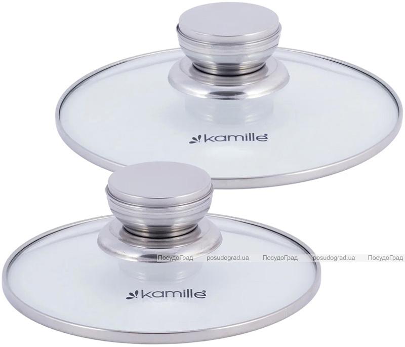 Набір 2 каструлі Kamille Desiree 1.5л, 3л з нержавіючої сталі з мірною шкалою