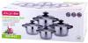 Набір 4 каструлі Kamille Groningen 1.5л, 2л, 3л, 5л з нержавіючої сталі з 5-шаровим індукційним дном