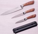 Набор 3 кухонных ножа Kamille Aubrieta на магнитной планке