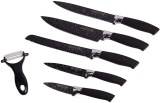 Набір кухонних ножів Kamille Shrenky Black 6 предметів