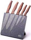 Набір 6 кухонних ножів Kamille Oryen-46 на підставці