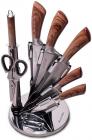 Набір кухонних ножів Kamille Aubrieta 7 предметів на віїрній підставці