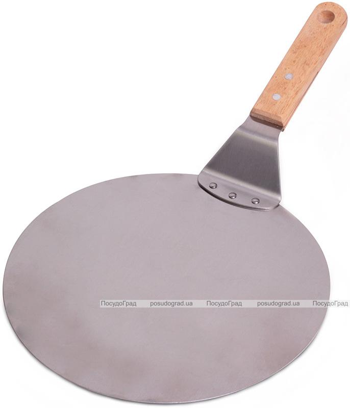 Подставка Kamille лопатка для пиццы Ø25.5см из нержавеющей стали