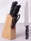 Набір кухонних ножів Kamille Iserlohn 6 ножів на дерев'яній підставці