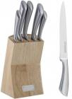 Набір ножів Kamille Perfection&Style 5 кухонних ножів і каучукова колода-підставка