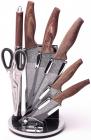 Набір кухонних ножів Kamille Oryen-39 7 предметів на віїрній підставці
